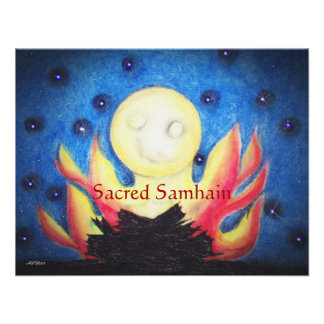 Bonfire Moon Samhain Witch Wiccan Pagan Custom Invitation