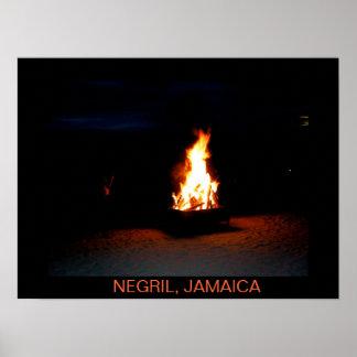 Bonfire Negril, Jamaica Print