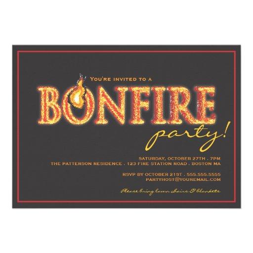 Bonfire Party Invitations as good invitation sample