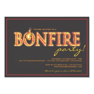 Bonfire on Fire Campfire Flames Party Invitation