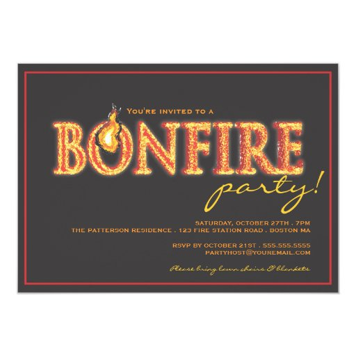 Campfire Invitations with luxury invitation layout