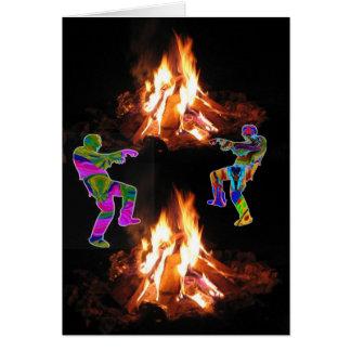BonFire Party  Bon Bonne Fire Card