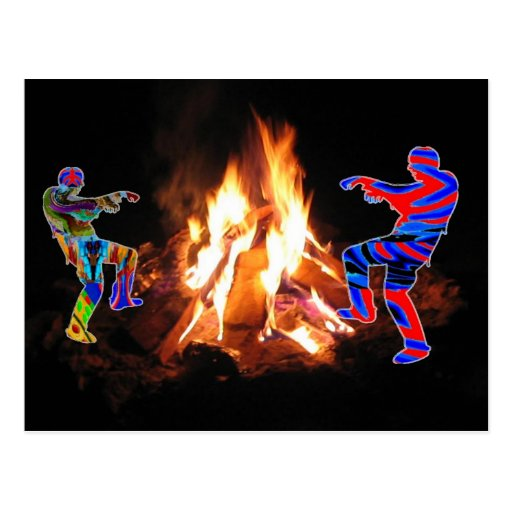 BonFire Party  Bon Bonne Fire Postcard