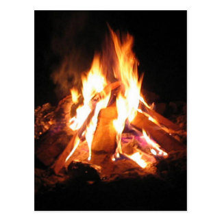 BonFire Party  Bon Bonne Fire Postcard