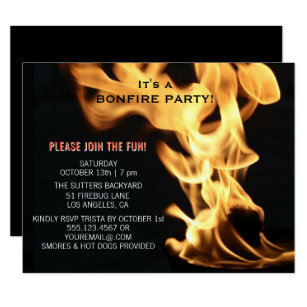 Campfire Invitations Zazzle