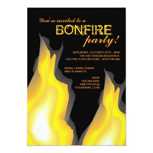 bonfire party invitation wording with adorable invitations ideas - Bonfire Party Invitations