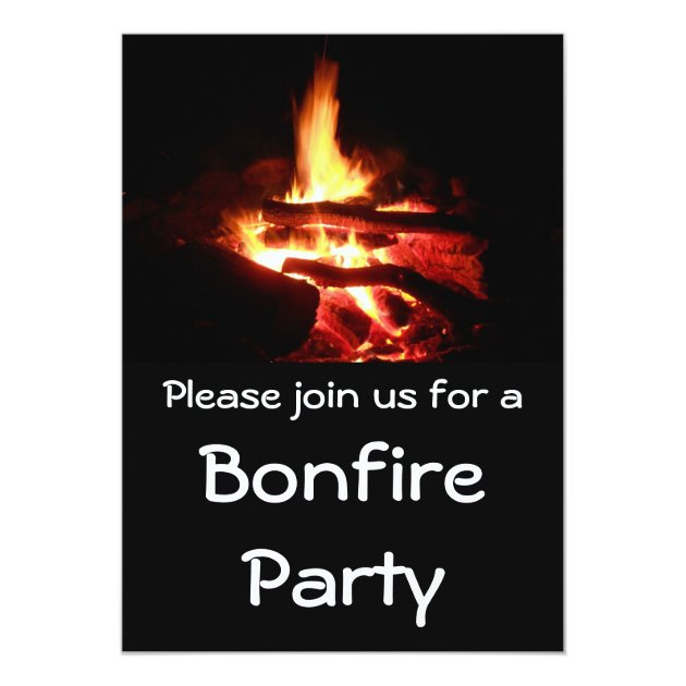 Bonfire Party Invitations with adorable invitation ideas