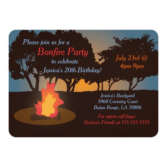 Bonfire Party Invitation Zazzle Com