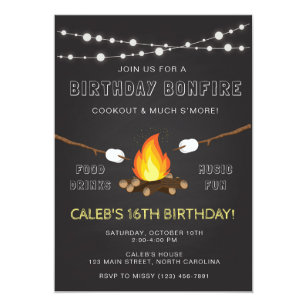 Camping birthday invitations announcements zazzle bonfire party invitation birthday camp out invitation filmwisefo