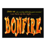 "Bonfire party invitations 5"" x 7"" invitation card"