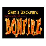 Bonfire party postcards