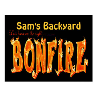 Bonfire party postcards
