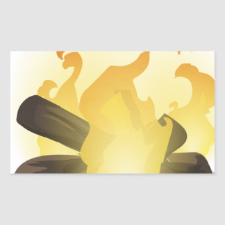 Bonfire Rectangular Sticker