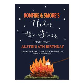 Bonfire & Smore's Birthday Invitation