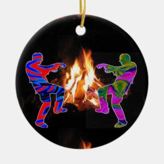 BonFire Zombie Dance Ceramic Ornament