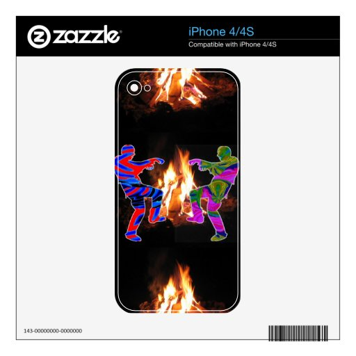 BonFire Zombie Dance Decal For The iPhone 4S