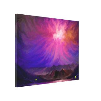 Bonfires At Sunset - Digital Art Canvas 18x24 Gallery Wrap Canvas