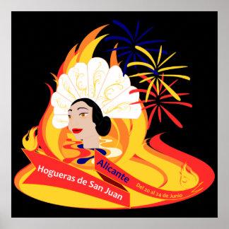 Bonfires of San Juan - Alicante Poster
