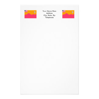 Bong County Flag Personalized Stationery
