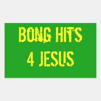 Bong Hits 4 Jesus Rectangular Sticker