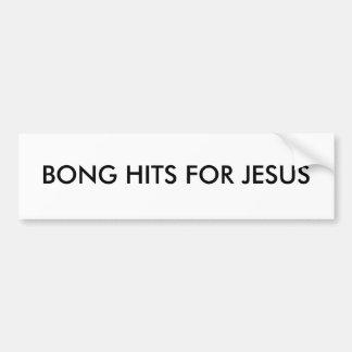 BONG HITS FOR JESUS CAR BUMPER STICKER