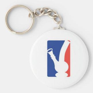 Bong logo basic round button keychain