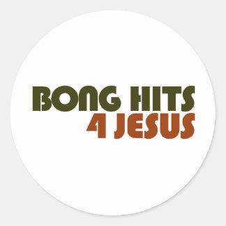 Bong los golpes para Jesús Pegatina Redonda