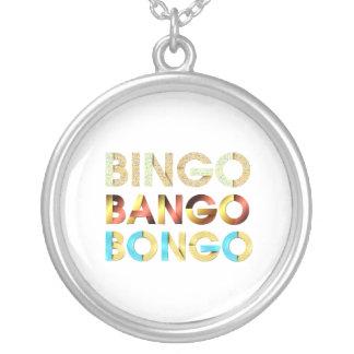 Bongo de Bango del bingo de la CAMISETA Colgante Redondo