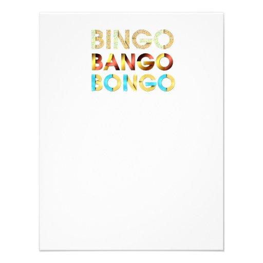 Bongo de Bango del bingo de la CAMISETA Comunicados Personales