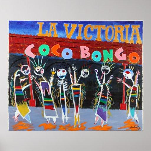 Bongo de los Cocos de Victoria del La Póster