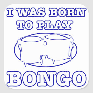 Bongo Designs Square Sticker