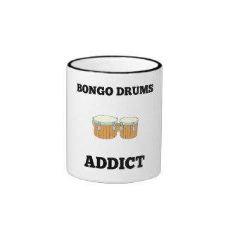 Bongo Drums Addict Ringer Coffee Mug