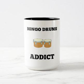Bongo Drums Addict Two-Tone Coffee Mug