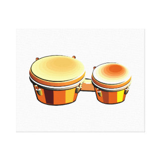 Bongo graphic image, a pair of bongoes canvas print