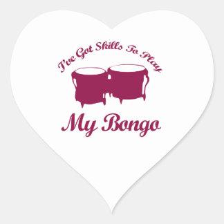 bongo musical designs heart sticker