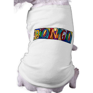 BONGO ~ PERSONALIZED BIG LETTER PET-WARE FOR DOGS! SHIRT