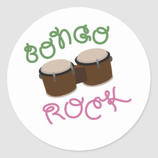 Bongo Rock Classic Round Sticker
