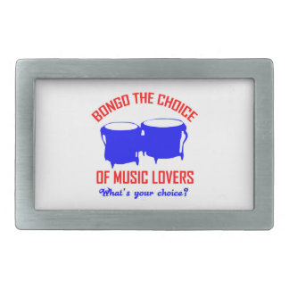 bongo the choice of music lovers belt buckle