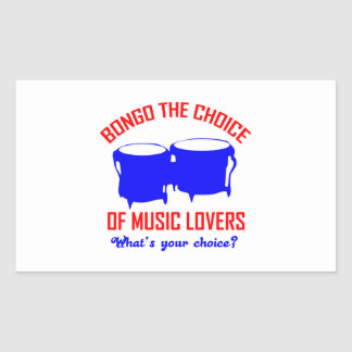 bongo the choice of music lovers rectangular sticker