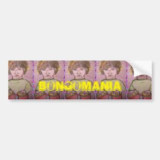 bongomania car bumper sticker