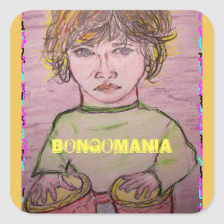 bongomania square sticker