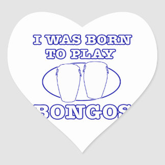 bongos Designs Heart Sticker