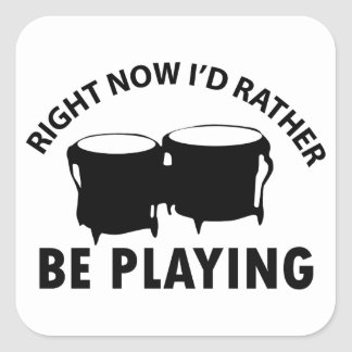 bongos designs square sticker