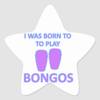 Bongos Designs Star Sticker