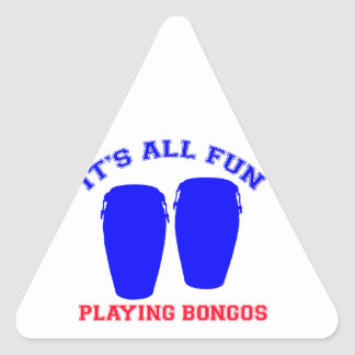 bongos designs triangle sticker