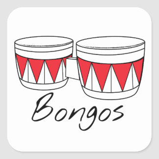 Bongos Square Sticker