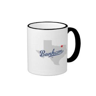 Bonham Texas TX Shirt Ringer Mug