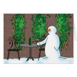 Bonhomme de neige greeting card