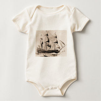 Bonhomme Richard   United States Historic ship Baby Bodysuit
