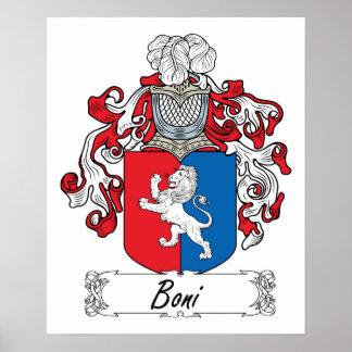 Boni Family Crest Poster